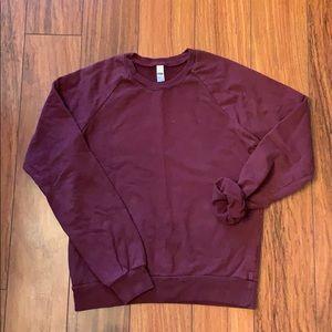 American Apparel // Burgundy Fleece Sweater